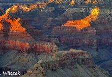 Grand Canyon - Canyon in Flammen-Sonnenuntergang am Mather Point.JPG