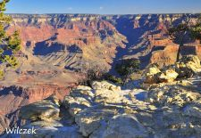Grand Canyon - Phantastischer Ausblick an der Hermits Rest Road.JPG