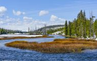 Wyoming, Northwest - Yellowstone National Park Lewis Lake & Lewis Falls 02.JPG