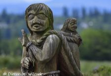 Faszination Vancouver Island - Campbell River, Holzskulptur der First Nations.JPG